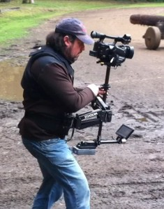 Ben Allan ACS operating the Steadicam Pilot